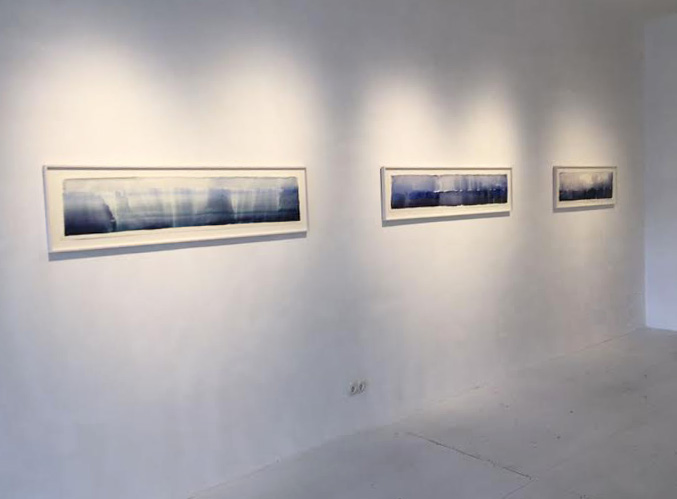 Galerie Christian Ouwens, photo of part of the galerie with drawings of Joris Geurts